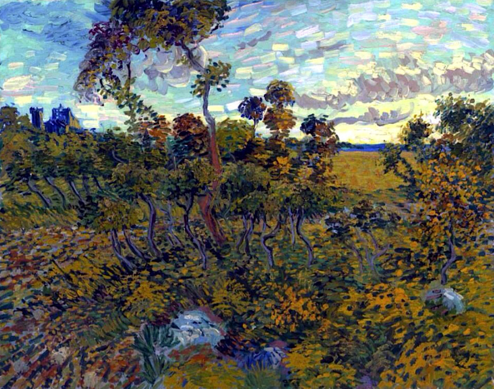 "bofransson: ""Sunset at Montmajour, Vincent van Gogh """
