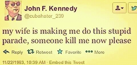 Tweet from John F. Kennedy:
