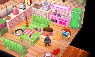 Fox-Toothed Girl, My kitchen in ACNL which I finished ... on Animal Crossing Kitchen Ideas  id=27888