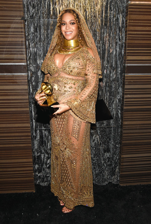 """mcavoys: """" Beyoncé attends The 59th GRAMMY Awards at STAPLES Center on February 12, 2017 in Los Angeles, California. """""""