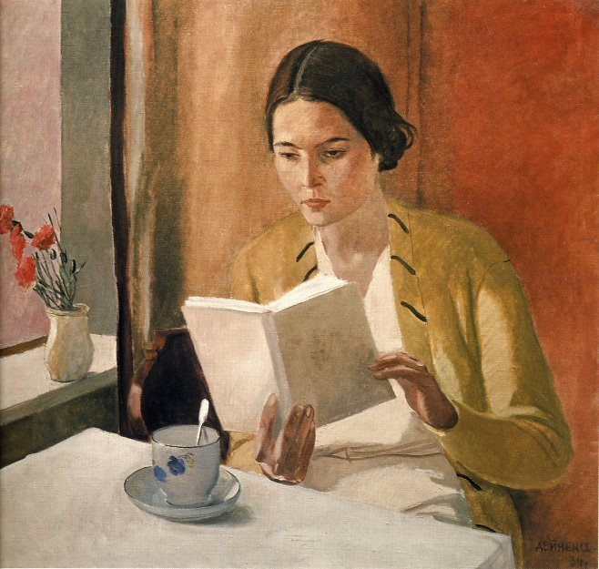 "artdecoblog: "" Via Art Inconnu. Alexander Deineka, Young woman, 1934. """
