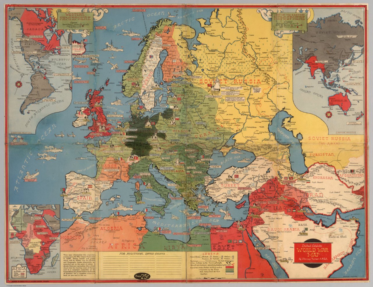 Dated Events World War Map By Stanley Turner