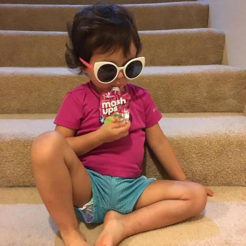 When told she's going on a field trip she demanded her diva sunglasses #thiskid #ryanandemmaatthepumpkinpatch #stuckintheoffice #makingryansendmepicturesevery15minutes