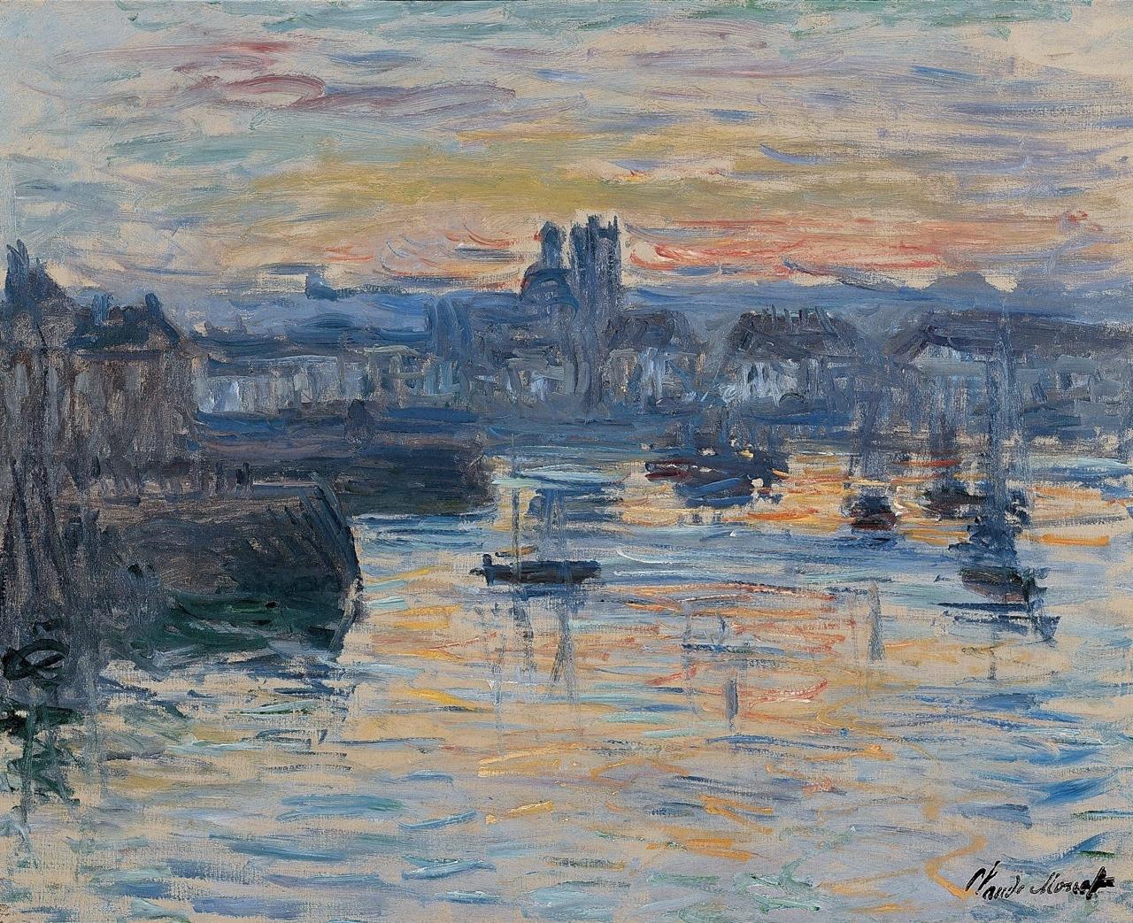 "terminusantequem: ""Claude Monet (French, 1840-1926), Port of Dieppe, Evening, 1882. Oil on canvas, 60 x 81 cm """