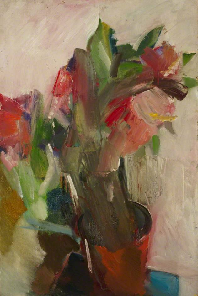Dorothy Mead; Vase of Flowers; A David Bomberg Legacy - The Sarah Rose Collection at London South Bank University, Borough Road; 1957; oil on canvas; 91 x 61 cm