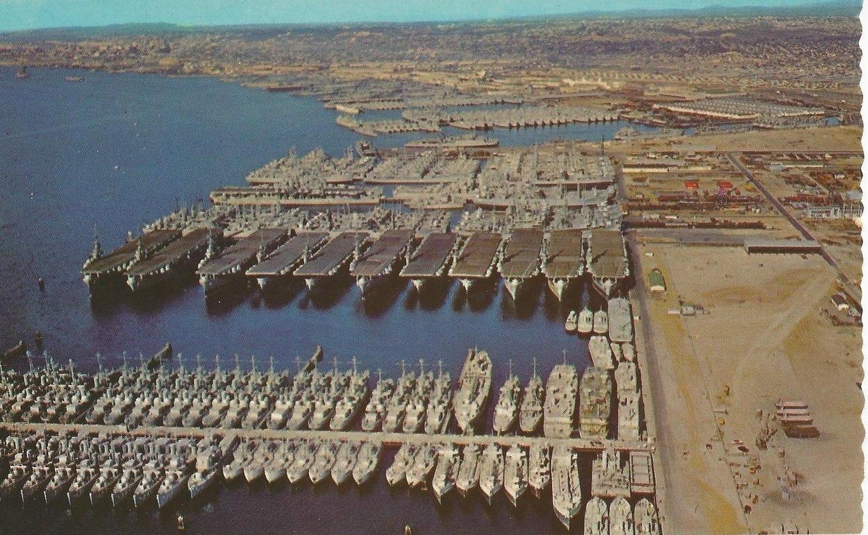 US Navy Ships Leftover After World War 2 In San Diego, 1946 via ...