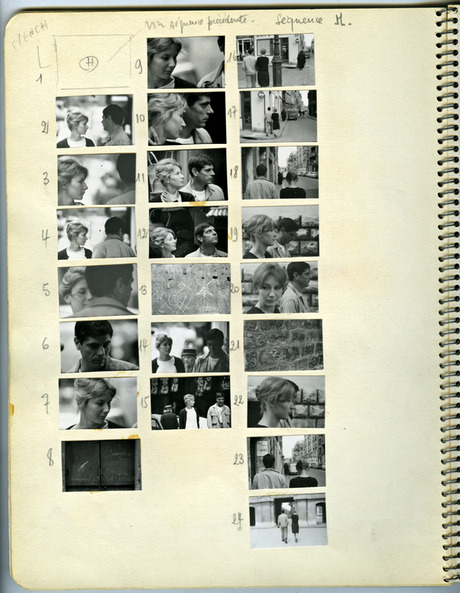 "keyframedaily: "" Chris Marker's workbook for the creation of La Jetée (1962). """