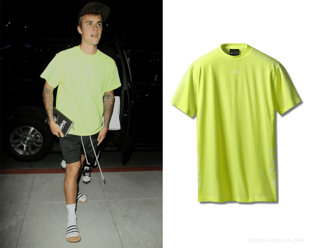 d887a378 Adidas Originals By Alexander Wang Bleach T-shirt in Yellow ...