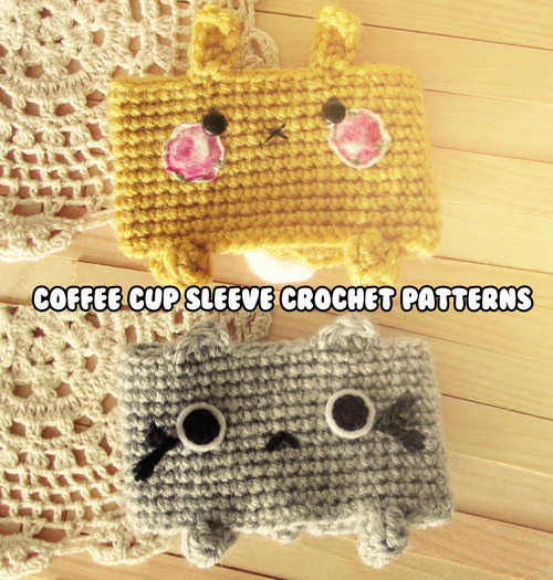 crochet pattern animal coffee sleeves