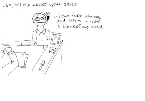job searching comic