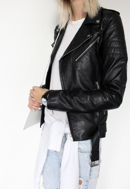 $35.25 Black biker leather jacket. Shop »here« !