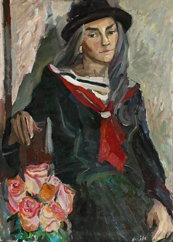 "lilithsplace: ""Girl with roses - Juliya Zhukova (b. 1980) oil on cardboard | source: """