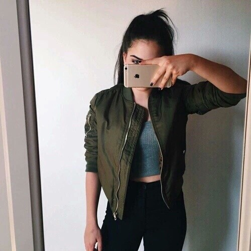 $37.39 Dark green bomber jacket. Shop »here« !