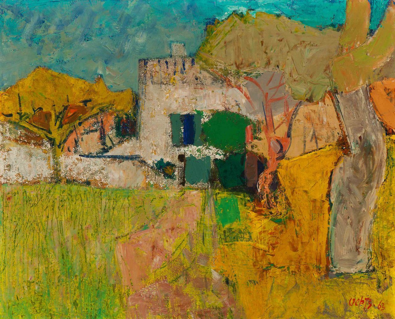 "amare-habeo: "" Wim Oepts (Dutch, 1904 - 1988) Provence, 1963 Oil on canvas, 33 x 41 cm """