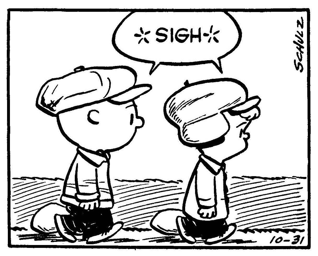 *SIGH* Peanuts, October 31, 1952
