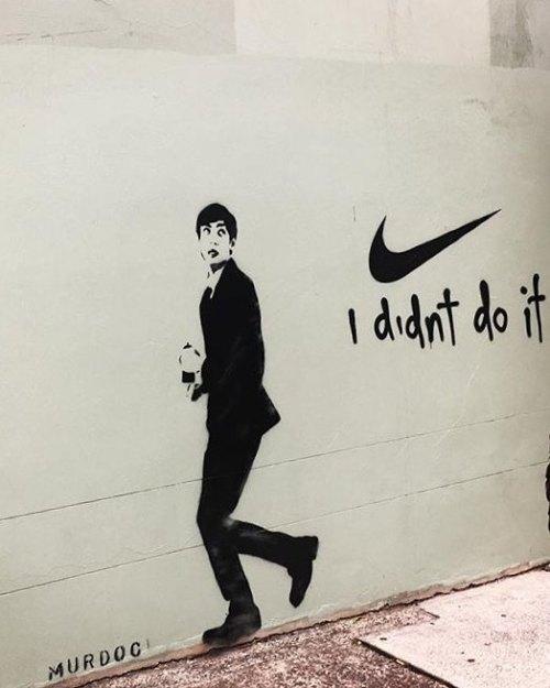 """streetartglobal:  """"I didnt"""" by @murdoc___ in Australia #globalstreetart #paintedwalls #streetart #paintedcities http://globalstreetart.com/images/2gaeuu2 https://www.instagram.com/p/BMqmDXjAwKn/"""