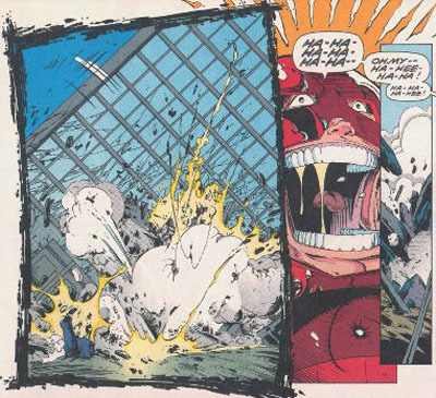 Image result for juggernaut destroyed twin towers
