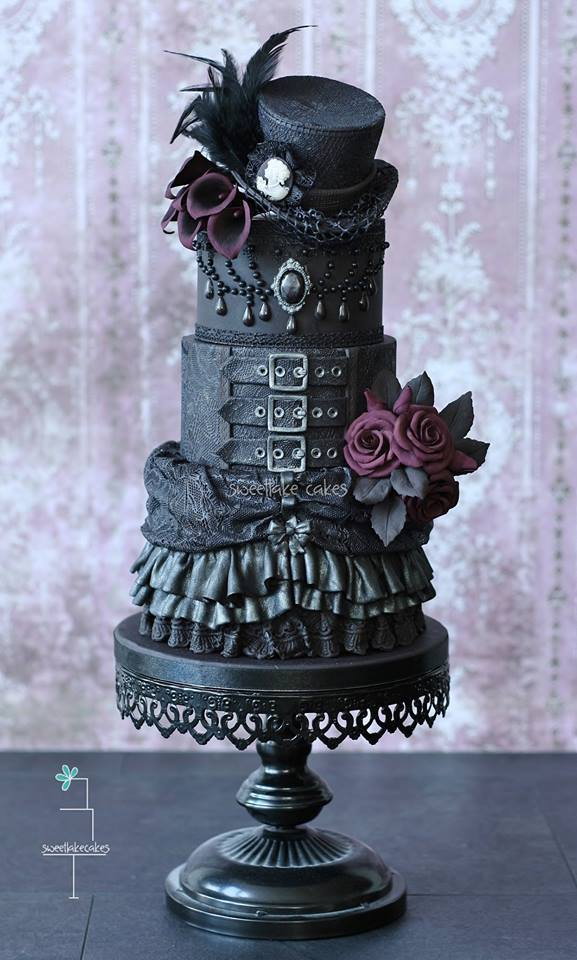"""misfitwedding: """" These Gothic cakes by Sweetlake Cakes are blowing our minds! See a load more here. """""""