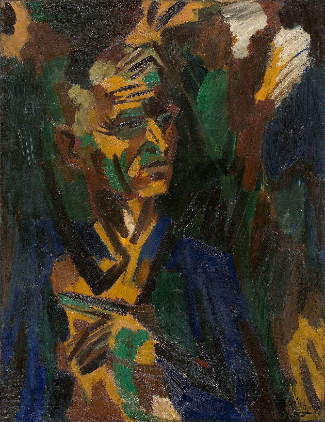"""amare-habeo: """" Ernst Wilhelm Nay (German, 1902 – 1968) Self-portrait, 1940 Oil on canvas, 105×80,5 cm """""""