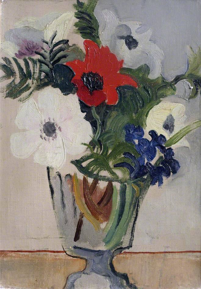 Christopher Wood; Flowers; Kettle's Yard, University of Cambridge; 1928; oil on canvas; 21.5 x 15 cm