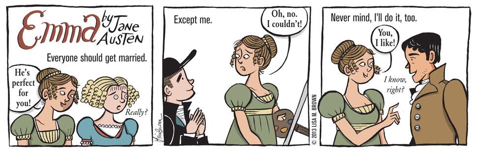 "threepanelbookreview: ""EMMA by Jane Austen. """