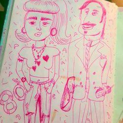 Sooo 90s #80s #90s #fashion #doodles #artwork #art #illustration #portrait #sketch #onesketchaday #portrait #arty #drawdrawdraw #inkdrawing #pink #manbag #mullet