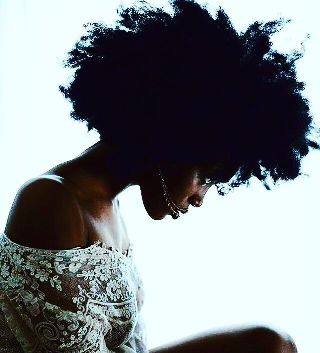 "Sweet solitude #Repost @bebeautifulla ・・・ ""My alone feels so good, I'll only have you if you're sweeter than my solitude."" ~ @wu_shire #warsanshire #poetry #selfcare #beauty #naturalhair Muse:@lillylouhemian 📸: @mistajoshua"