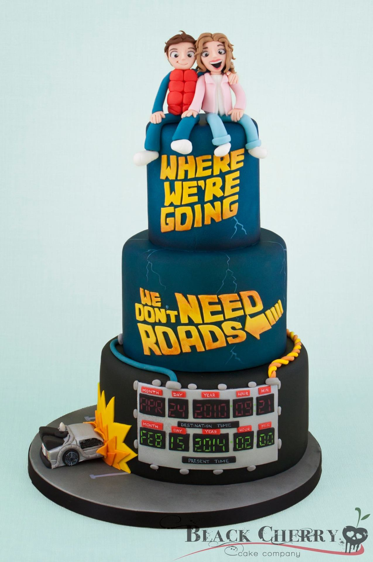 """misfitwedding: """" misfitwedding: """" Great Scott! Inject some personality into your wedding day with a killer cake like this one from Black Cherry Cake Company """" On this most special of days we should probably share this again! """""""
