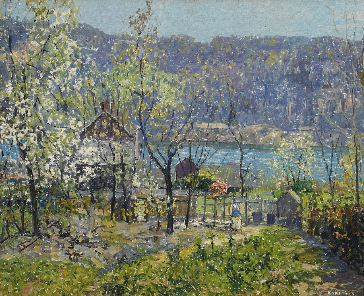 "thunderstruck9: ""Edward Willis Redfield (American, 1869-1965), Spring at Point Pleasant, 1934. Oil on canvas, 26 x 32 in. """