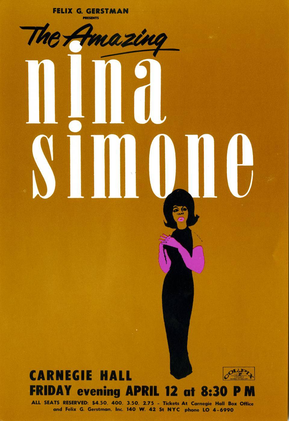 Nina Simone - Carnegie Hall, New York City, New York U.S.A. - April 12, 1963