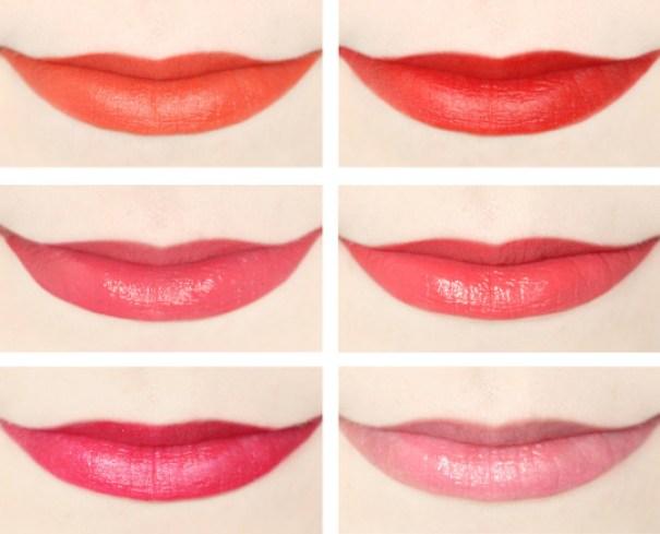 Giorgio Armani Lip Maestro Notorious Liquid Lipstick  Swatches,  301 A-List, 408 Notorious, 515 Dress Code, 516 Spotlight, 517 Maharaja and 518 Paparazzi Pink