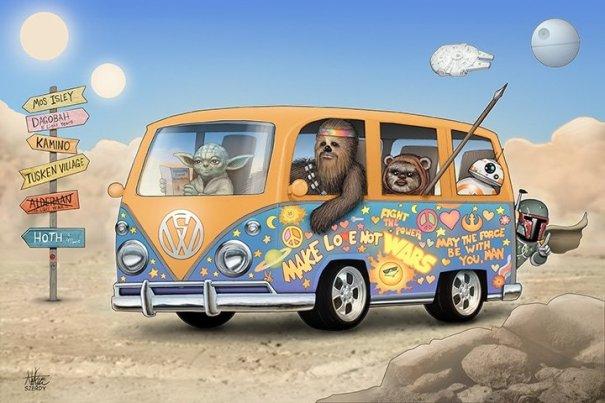 Hippie Wagon Star Wars