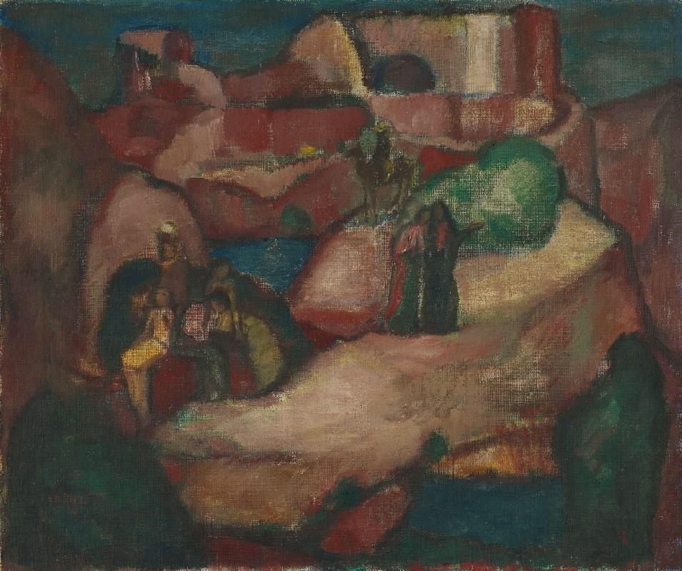 "terminusantequem:""Josef Eberz (German, 1880–1942), Biblische Landschaft, 1914. Oil on canvas, 58.50 x 70.00 cm"""