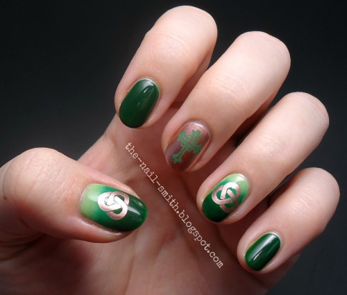 st. patrick's day nails on Tumblr