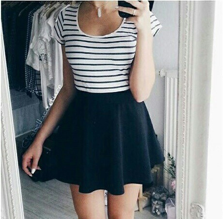 $11.42 Pretty black mini skirt. Get it »here« !
