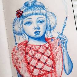 China babe sketching on the flight home from an amazing holiday in Broome. ...... . #art #doodle #drawing #pencildrawing #perthcreatives #perthartist #illustration #artworks #artsy #perthpop #perthstagram #colour #artistsofinstagram #journal #chinadoll #insanelyinspiredinstagram #artisttowatch #creativityfound #blueandred #drawdrawdraw #pencildrawing #colorpencils #sketching