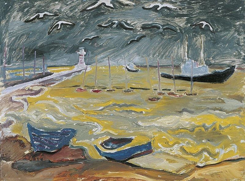"""terminusantequem:""""Carl Lohse (German, 1895-1965), Draußen kocht die See, 1958"""""""