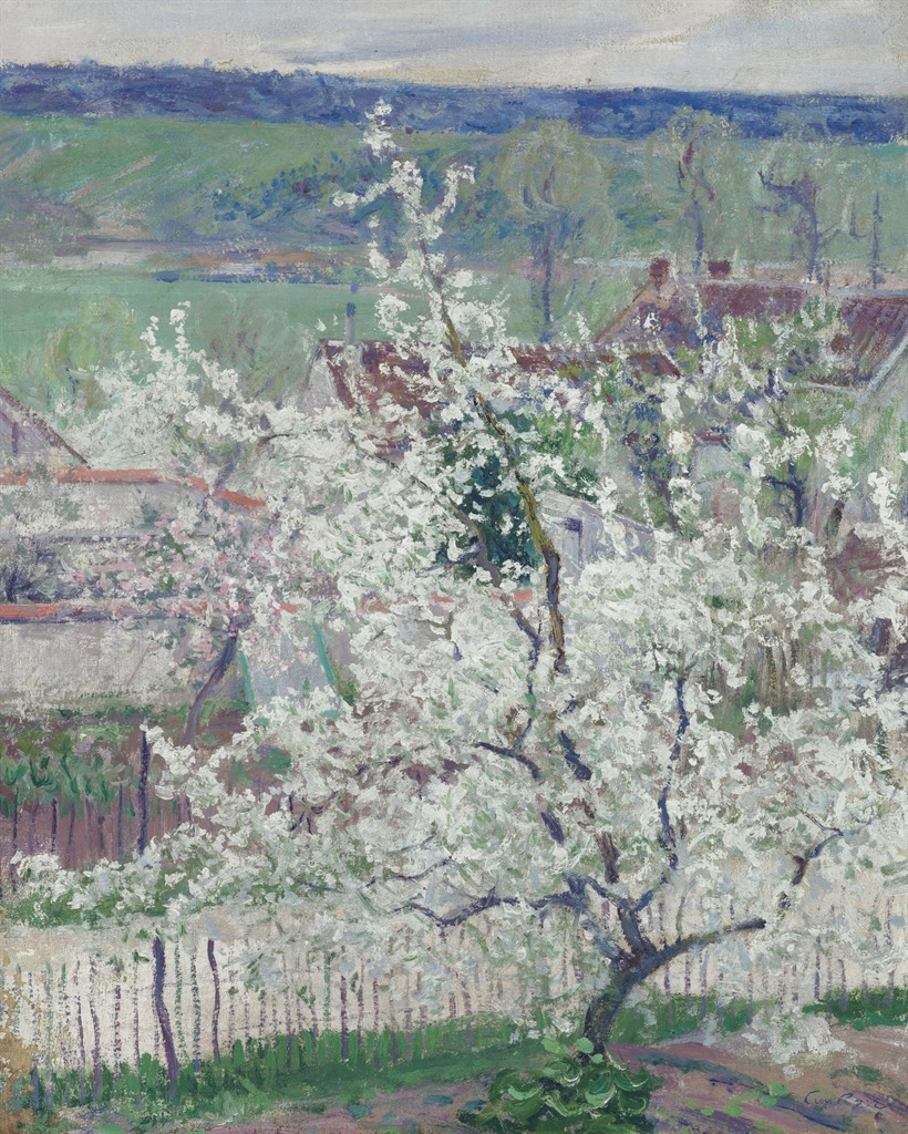"""thunderstruck9:""""Guy Rose (American, 1867-1925), Spring in Normandy. Oil on canvas, 61 x 50.2 cm."""""""