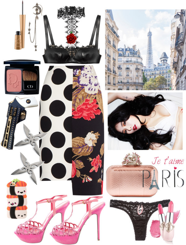 Parisian by lucilxlu featuring quote posters
