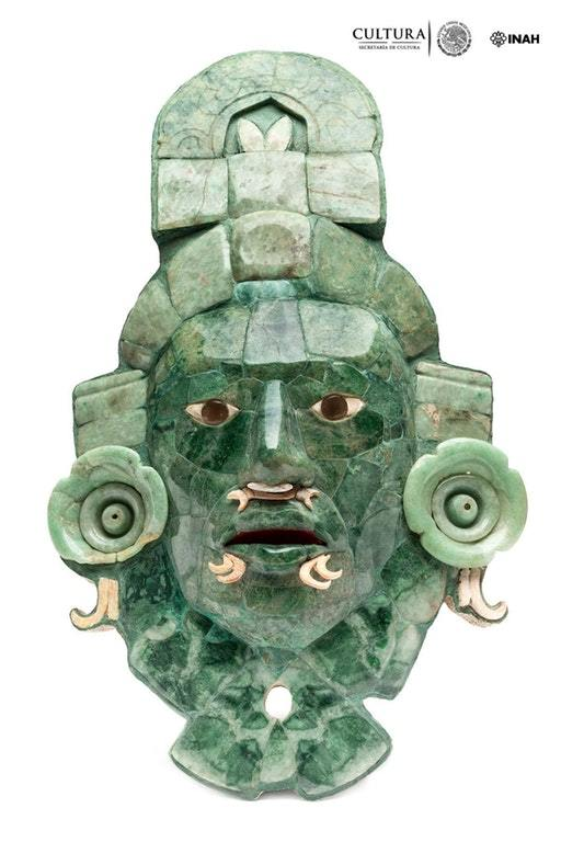 A Funerary Mask From The Mayan City Of Calakmul It Is A Mosaic