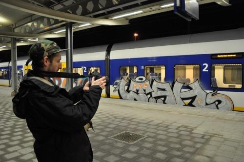 vicecanada:Renegade Graffiti Artists Utah & Ether Aren't Afraid of Getting Caught   VICE Canada   The Creators Project