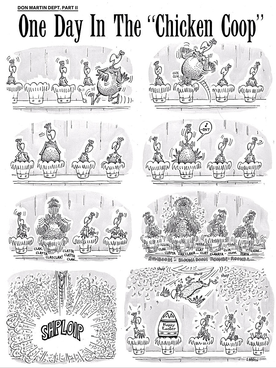 One Day in the 'Chicken Coop' by Don Martin - published in Mad  - June 1966 (No. 103)