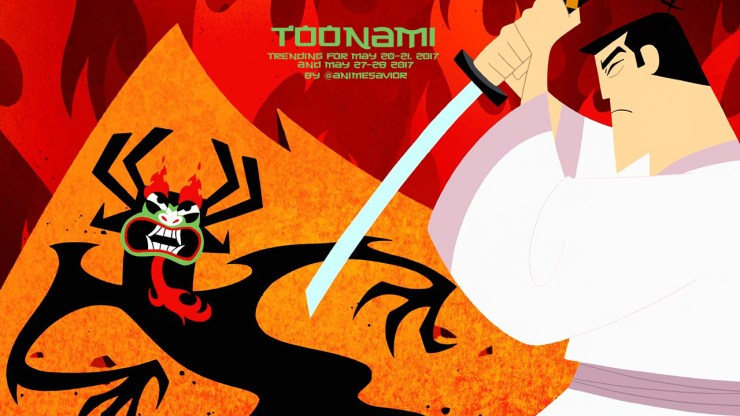 """""It is done. He will never hurt anyone ever again."" - Jack, Samurai Jack (Season 5, Ep. 10) "" This week's Toonami Trending Rundown is a doublefeature for the weeks of May 20-21, 2017 as well as the Memorial Day weekend of May 27-28, 2017 as Toonami..."