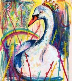 Swan song …. an oldie artwork. #arty #perthcreatives #perthartist #illustration #lowbrow #art #drawdrawdraw #sketch