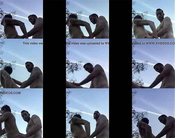 Sexo anal com o lenhador ao ar livre