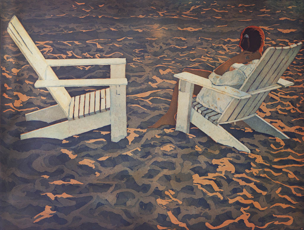 """huariqueje: """" Late Light - Marcel Schellekens, 2009 Dutch b.1954- Colour Etching, 50 x 65 cm. """""""