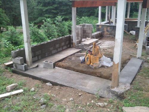 Building an Outdoor Stone Fireplace - qx(tech, UI, power ... on Building Outdoor Fireplace With Cinder Block  id=81676