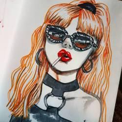 Tricky Vicky #art #doodles #drawing #illustration #draw #inkpen #inkdrawing #drawdrawdraw #perthcreatives #perthartist