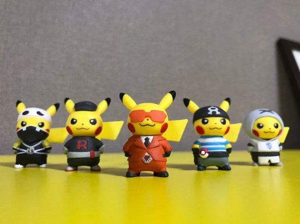Pikachu Villain Figures from the Pokemon Center – Gaming