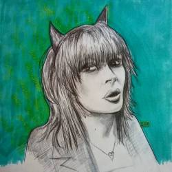 Sketching a favourite Aussie woman of rock…. hero and icon Chrissy Amphlet. Lead singer from one of the best aussie bands of the 80s. Well my favorite anyhow. 😀🎸 #art #doodle #drawing #doodlesofinstagram #arty #perthcreatives #perthartist #inkdrawing #drawdrawdraw #sketch #draw #rockchick #womenofrock #aussie #chrissyamphlett #pencil #pencildrawing #dyvinals